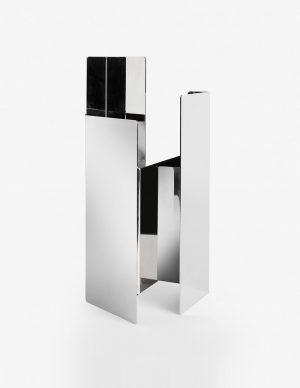 Fugit - Vase - Polished White Nickel