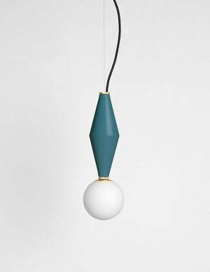 Gamma a - Suspended led lighting - Petrol Green