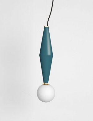 Gamma b - Led hanging lamp - Petrol Green