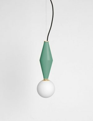 Gamma a - Suspended led lighting - Sage Green