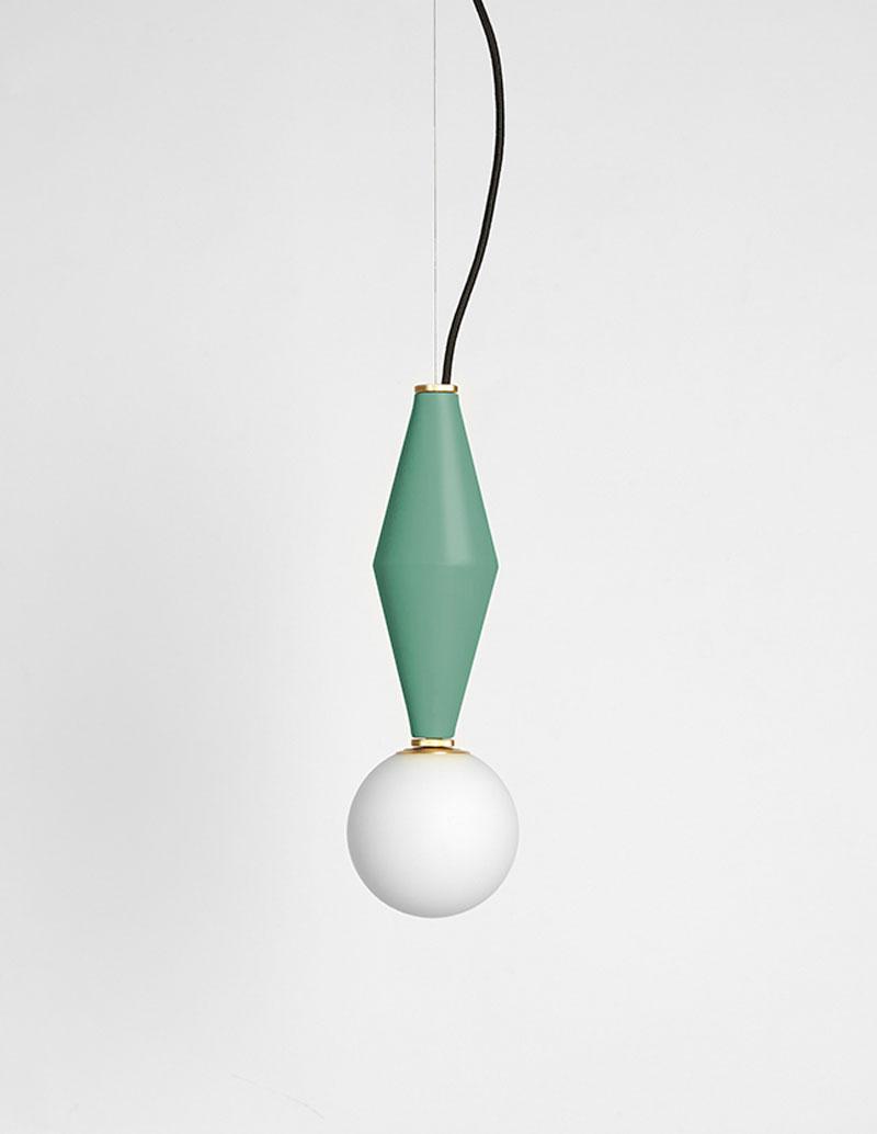 Gamma - Hanging Lamp A - Sage Green
