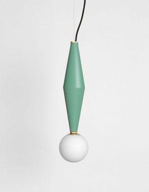 Gamma b - Led hanging lamp - Sage Green