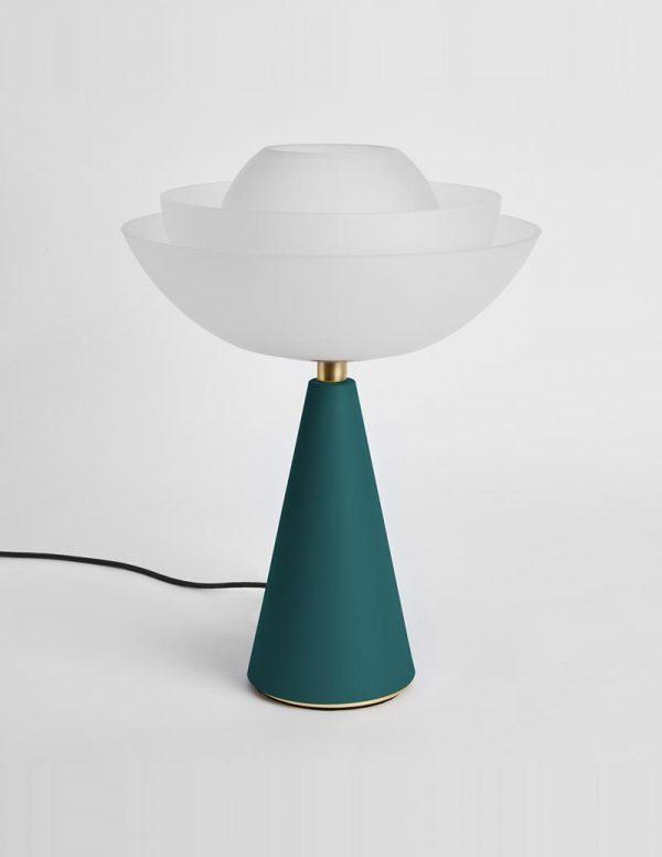 Lotus - Table Lamp - Petrol Green