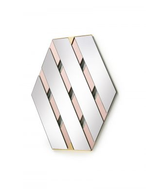 Tresse - Wall Mirror - Pink
