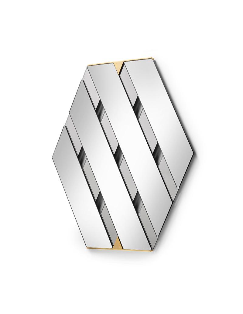 Tresse - Wall Mirror - Smoke Grey