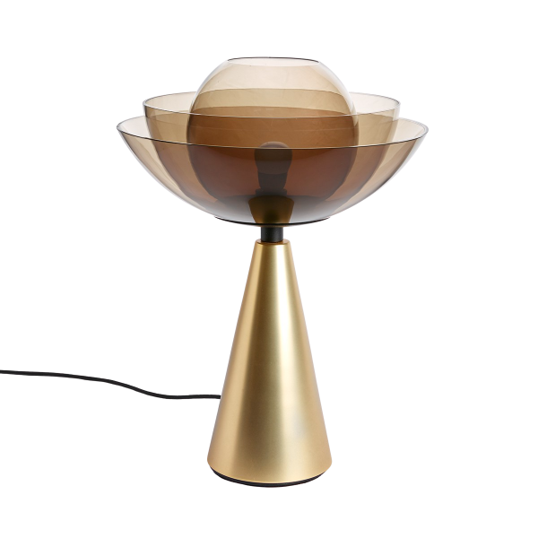 Photo of lotus lamp in gold