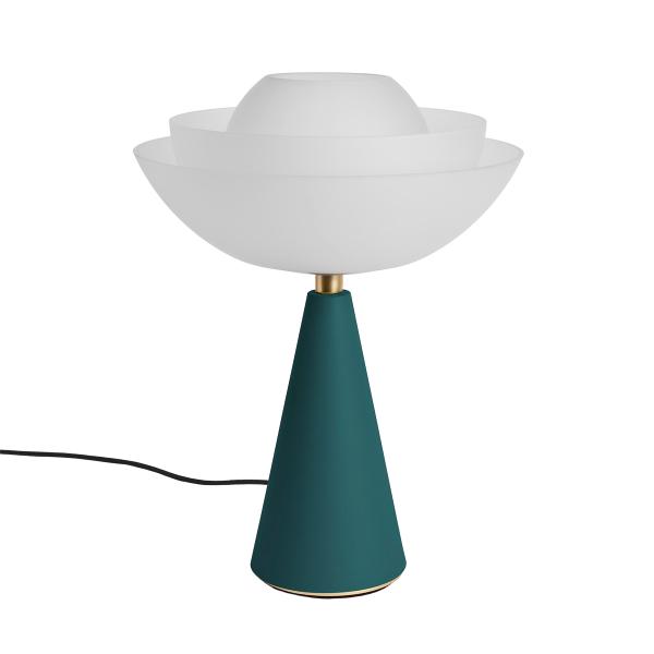 Photo of lotus lamp in green petrol