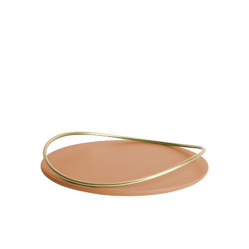 Touché A - Small round Tray - Cotto