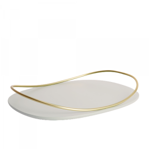 Touché C - Oval Tray - Taupe