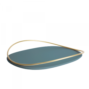 Touché D - Oval Tray - Petrol Green