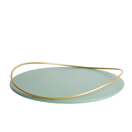 Touché E - Big round Tray - Sage Green