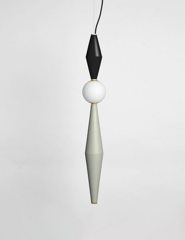 Gamma - Hanging Lamp F - Black/Light Grey