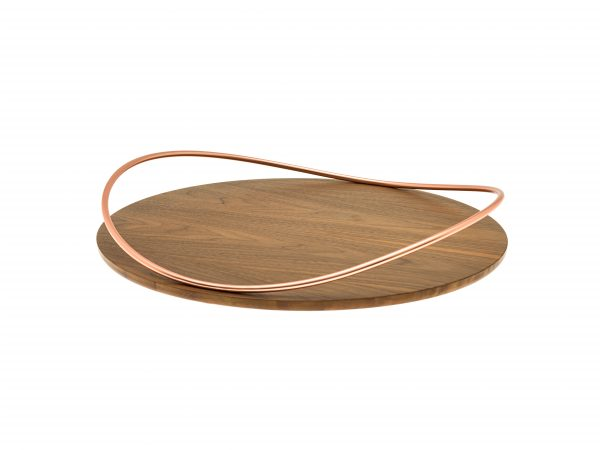 Touché E Bois - Big round Tray - Walnut Canaletto wood