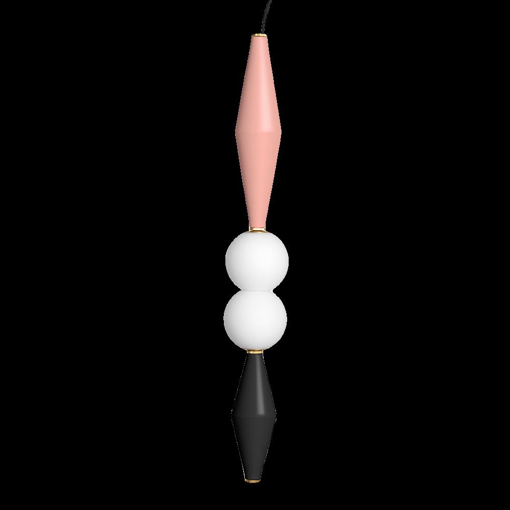 hanging lamp black and pink